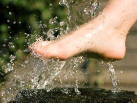 Kneipp, Fußbad, Füße, Wasser.