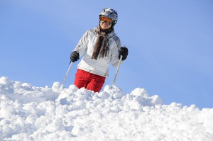 Skifahren ohne Helm? Zu gefhrlich!